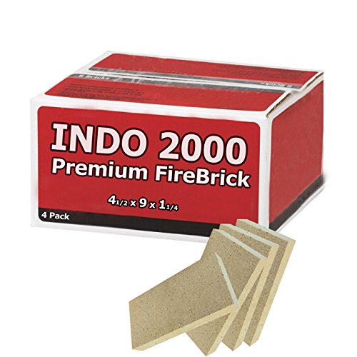 Buddingco Fire Brick Kit of 4 Perfect for fire pits, Pizza ovens, and stoves