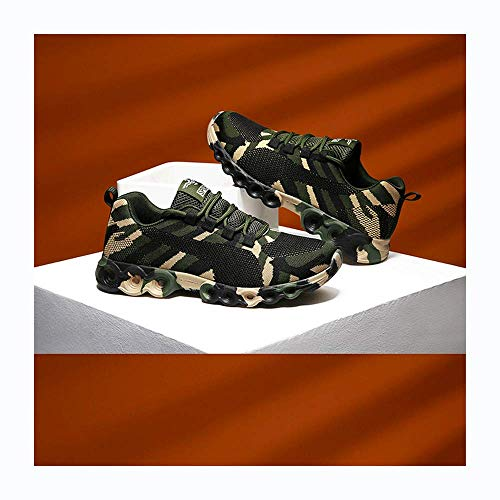 HaoLin Breathable Casual Shoes Sneakers Women Men Army Green Trainers+ Insoles,Black-41