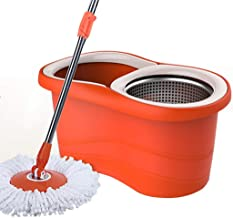 BTYAY Mop,Spin Mop Bucket Set - for Home Kitchen Floor Cleaning - Wet/Dry Usage on Hardwood & Tile - with 2 Washable Micro...