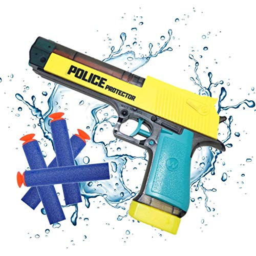 toshi station Desert Eagle Toy Gun - Water Pistol Squirt Gun or Foam Darts - Dual Action - Style of a Dessert Eagle with Removable Water Magazine - for Safety Training or Play