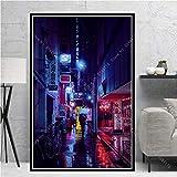 NLIFEB Poster Print Japan Tokio Stadt Nachtansicht Stadt