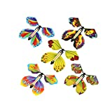 LYLEE Magic Fairy Flying Butterfly Rubber Band Powered Wind up Butterfly Toy for Surprise Gift or Party Playing Christmas and New Year ( 5 Pieces))