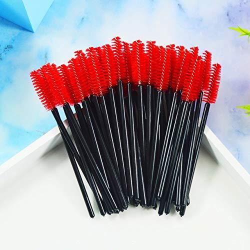 Makeup Brushes and Tools QSTY 50Pcs Brosses Pinceaux Cils Mascara à Usage Unique Wands Applicateur Spouleurs Cils Brosse cosmétiques Outils de Maquillage Easy to Use and Carry