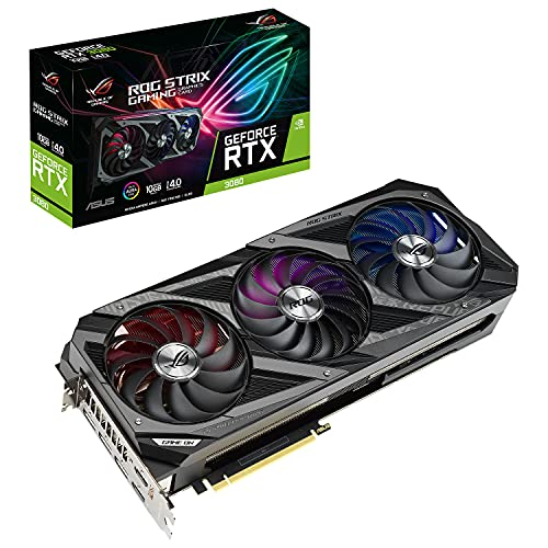 ASUS ROG STRIX NVIDIA GeForce RTX 3080 OC Edition Gaming Graphics Card (PCIe 4.0,...