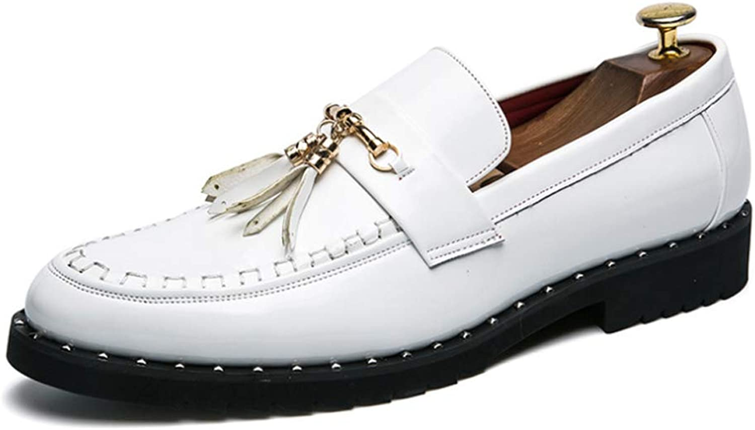 Casual shoes Men's Glossy shoes Tassels Loafers Hair Stylist Men's shoes Thick Soled Nightclub shoes Tide shoes