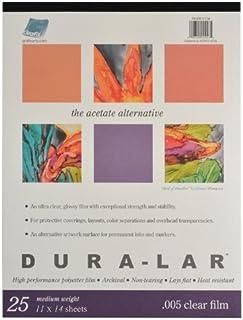 Grafix P05DC1114 Clear .005 Dura-Lar Film, 11-Inch by 14-Inch, 25 Sheets