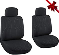 AutoJoy Car Seat Covers Front Seats Only, Waterproof Bucket Seat Covers Universal Fit Airbag Compatible for Trucks, SUV, 2 PC