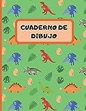 CUADERNO DE DIBUJO: LINDOS DINOSAURIOS PREHISTORICOS. CUADERNO PARA DIBUJAR, 22cm X 28cm. 100 PAGINAS EN BLANCO, GRAN TAMAÑO. REGALO CREATIVO Y ORIGINAL. Cumpleaños. Niños y niñas.