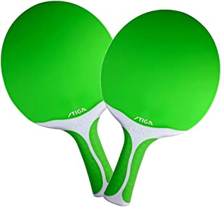 Set of 2 Stiga Flow Ping Pong Paddle - Green
