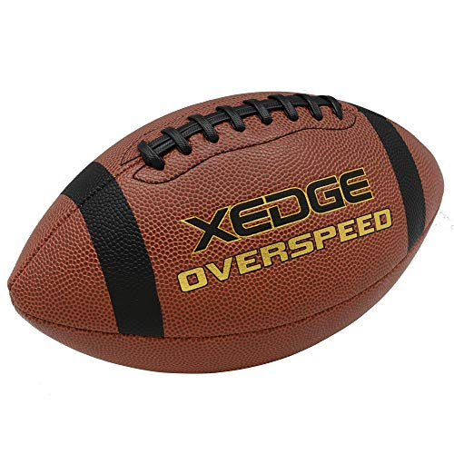 XEDGE Composite Leather Indoor/Outdoor Footballs for Training and Recreational Play Size 9(Official)