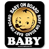 【マグネット】カフェ☆BABY IN CAR ベビーインカー マグネットステッカー 赤ちゃんが乗ってます ベビーinカー(ブラック)
