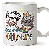 MUGFFINS Tazza Koala Compleanno ottobre - Idee Regali Originali et Divertenti per Uomo e Donna - per lui/per lei - per i bambini. Ceramica 350 mL