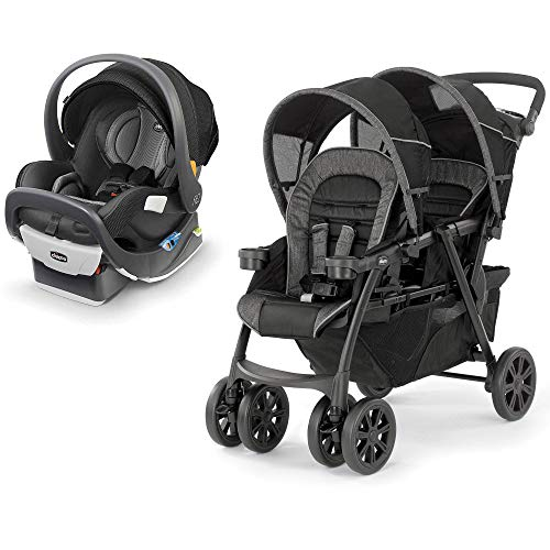 Chicco Fit2 Infant & Toddler Car Seat, Tempo w/Double Folding Stroller, Mineral