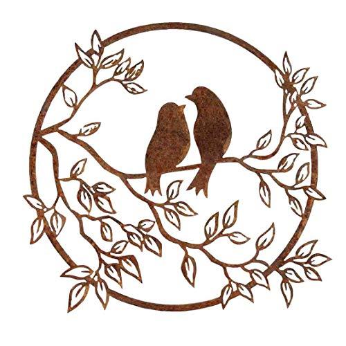Gartendeko, Vögel, Edel Rost, Rost, Metall in Edelrostoptik, rostige Dekoration für den Garten, wetterfest, für draußen und drinnen, Edelstahl, Rostoptik, Wowierostikal