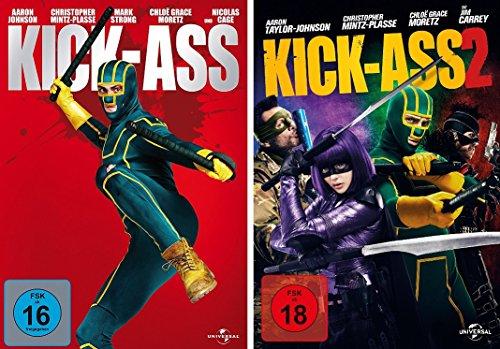 Kick-Ass 1 + 2 im Set - Deutsche Originalware [2 DVDs]