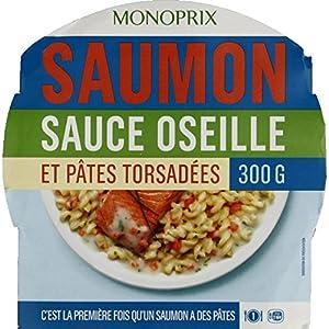 Monoprix Saumon sauce oseille et pâtes torsadées - La barquette de 300 g