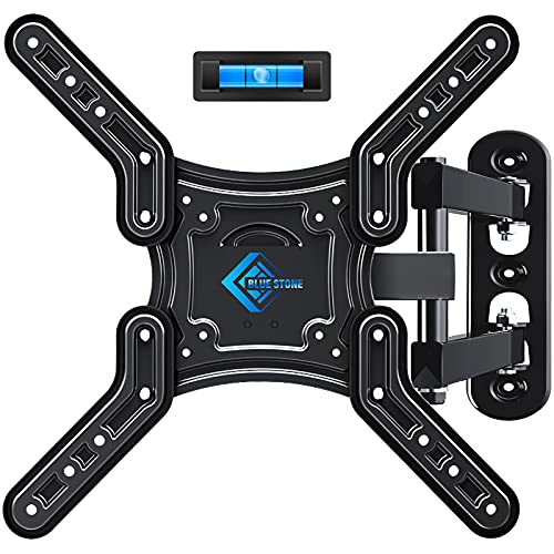 BLUE STONE TV Wall Mount, Full Motion TV Mount Swivel and Tilt for Most 28-60 Inch TVs, Wall Mount TV Bracket up to 80 lbs and Max VESA 400x400mm, Perfect Center Design for LED LCD Curved Flat Screen