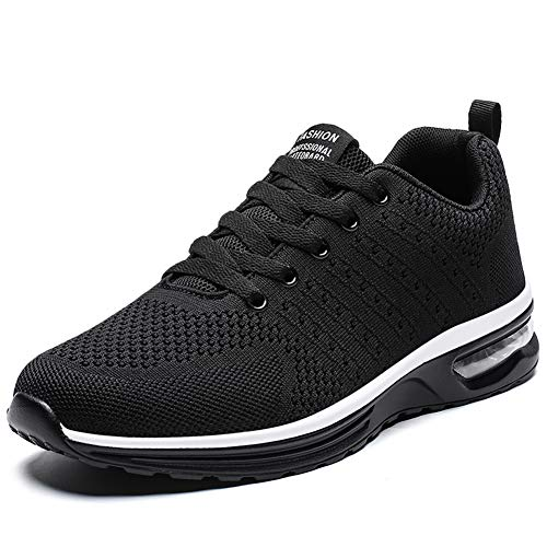 Running Shoes for Women Lightweight Breathable Cross Training Gym for Exercise Air Cushion Athletic (7, Black)
