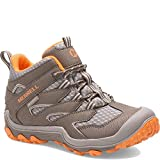 Merrell Chameleon 7 Access Mid Waterproof Hiking Boot, Gunsmoke/Orange, 4.5 US Unisex Big Kid