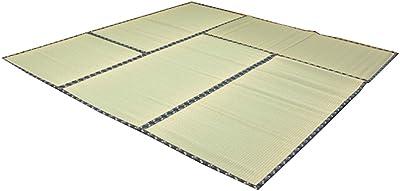 イケヒコ い草 ラグ 日本の暮らし 江戸間8畳 約352×352cm 日本製 上敷き カーペット 糸引織 ヒバ加工 本格畳タイプ #1105238