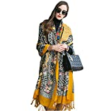 dana xu 100% pure wool women winter large scarf pashmina … (yellow)