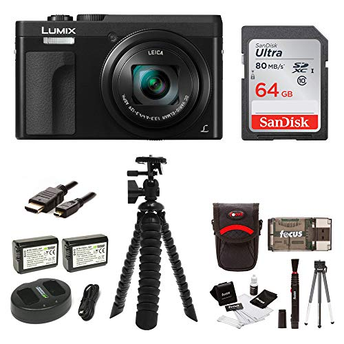 """Price comparison product image Panasonic DC-ZS70K Lumix 20.3MP,  4K Touch Enabled 3"""" LCD,  180 Degree Flip-Front Display,  30x Lens 64GB Bundle"""