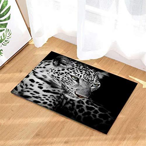 Alfombrillas De Baño. Felpudo. Alfombra De Cocina. 40 Cm X 60 Cm. Impresión 3D HD. Agrega Cachemir. Antideslizante Pigmentos Vegetales. Más Seguro. Animal. Leopardo.