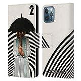 Head Case Designs Licenciado Oficialmente The Umbrella Academy Klaus Season 2 Characters Carcasa de Cuero Tipo Libro Compatible con Apple iPhone 12 / iPhone 12 Pro
