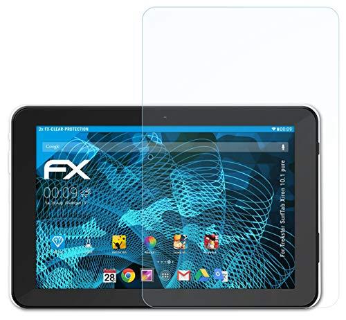 atFolix Schutzfolie kompatibel mit Trekstor SurfTab Xiron 10.1 Pure Folie, ultraklare FX Bildschirmschutzfolie (2X)