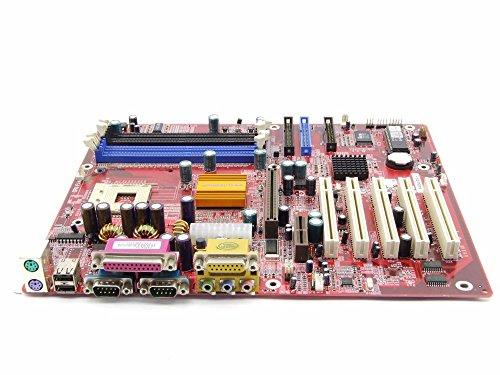 ECS P4S5A/DX+ Intel Socket 478 Mainboard DDR 333/266 SD-RAM PC133/PC100 AGP AMR (Zertifiziert und Generalüberholt)