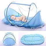Lit Bébé, Berceau de voyage pliable, pour bébé avec Tente moustiquaire, Lit d'appoint léger avec matelas épais,1 kg, pour...