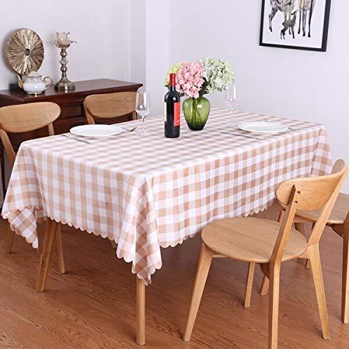 XXDD Idílico Juego de Mesa de Picnic de celosía Rectangular Mantel Restaurante Boda Comedor Fiesta Mantel Cubierta Exterior A2 140x180cm