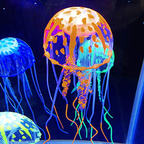 Souarts aquarium decoratie oplichtende kwallen voor jellyfish vissen tank aquarium ornament glowing effect vistank ornament