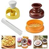 YOUKCDT 3 Stück Donutform Set DIY Backen Donut Form ABS und Hips Material Kuchenform Bunt...