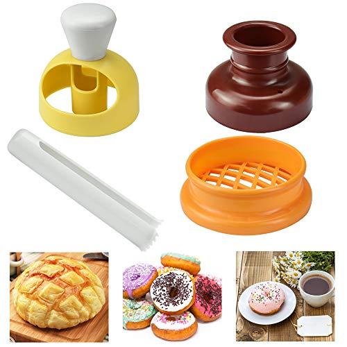 YOUKCDT 3 Stück Donutform Set DIY Backen Donut Form ABS und Hips Material Kuchenform Bunt Fondantform für Muffins weichen Bonbons Schokolad Wachs Seife Harz und verschiedenen Formtonen