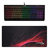 HyperX Alloy Core RGB + HyperX FURY S Mouse Pad Speed Edition - XL