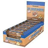 WEIDER 32% Whey Wafer Proteinriegel 35g, Haselnuss, 24 leckere Eiweiß Waffeln mit Schokolade
