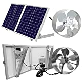 ECO-WORTHY 25W Solar Powered Attic Ventilator Gable Roof Vent Fan with...