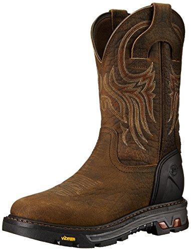 Justin Original Work Boots Men's Commander X-5 WK2106, Tumbled Mahogany Brown Buffalo, 13 D US