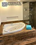 Whirlpool Badewanne Karibik Profi MADE IN GERMANY 155 x 155 cm mit 25 Massage Düsen + LED Unterwasser Beleuchtung / Licht + Heizung + Ozon Desinfektion + OHNE Armaturen runde Eckbadewanne - 6