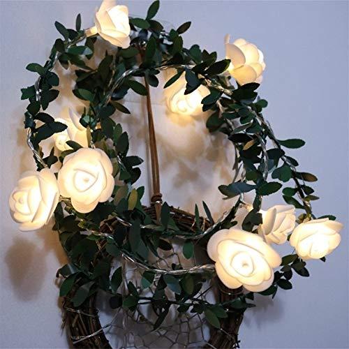Victor Johnsond LED Rose Flower led Fairy String Lights Battery Powered Wedding Valentine's Day Event Party Garland Decor Luminaria keukenverlichting (Color : Warm white, Size : 1.5M 10leds)