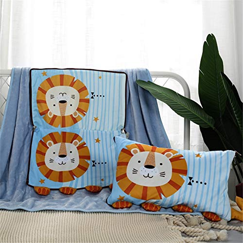 VDSON Couch-Kissen Quilt Multifunktionale Cartoon Dual-Purpose Kissen Decke Kreative Tierform Kinder Kissen Kissen Blanket (Color : A, Size : 30x50cm)