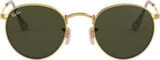 Ray-ban Mod. 3447 - Unisex sunglasses, gold frame (edge), dark green lenses size 47