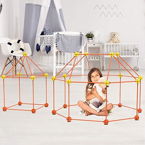 RecoverLOVE Kit de construcción de fortalezas para niños, Constructor de fortalezas de Aire Ligero, construcción de túneles de Castillos, Tienda de campaña para niños y niñas Mayores de 3 años