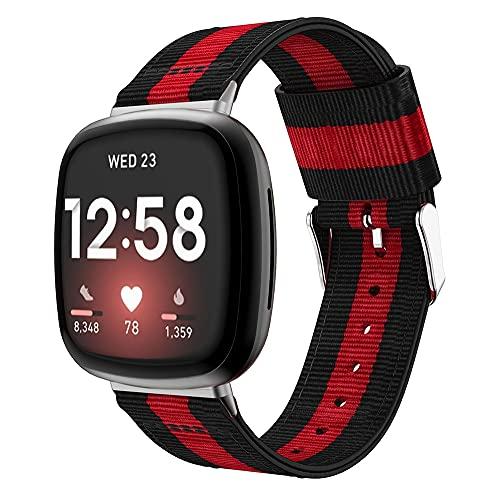 Gransho Compatible con Fitbit Versa 3 / Fitbit Sense Correa de Reloj, Pulsera Deportivo de Reloj de Nylon, con Cierre de Clip, Respirable y Reemplazable (Pattern 5)