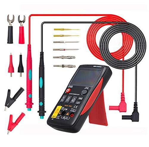 BEVANNJJ ZYY Multímetro Digital Botón 9999 Cuenta con Gráfico de Barras analógico AC/DC Voltaje del amperímetro Actual Ohm automática/Manual, 14PCSKit