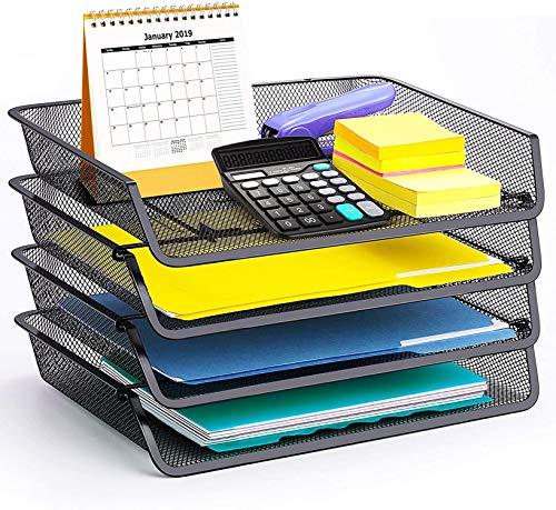 4 Pack – Simple Trending Stackable Office Desk Supplies...