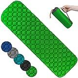 ALPIDEX Colchoneta Camping Esterilla Inflable Camping 190 x 57 x 5 cm Portatil Ligero, Color:Green