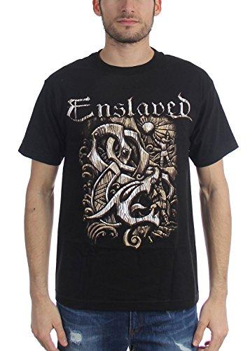 Enslaved Herren T-Shirt Gr. M, schwarz