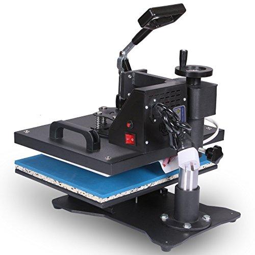 Lartuer Transferpresse Tassenpresse Textilpresse T Shirtpresse Heat Press Machine 8 in 1 Mulitifunktional Sublimation 360-Grad-Drehung (8IN1) - 4